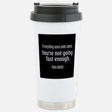 Mario Andretti Quote Travel Mug