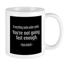 Mario Andretti Quote Mugs