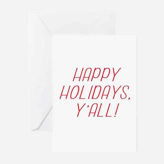 Happy Holidays YAll! Greeting Cards