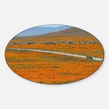 Poppy Field Sticker (Oval)