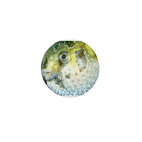 Puffer fish mini button by frecklescat for Mini puffer fish
