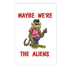 WE'RE ALIENS? Postcards (Package of 8)
