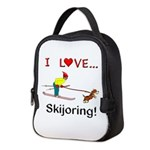 I Love Skijoring Neoprene Lunch Bag