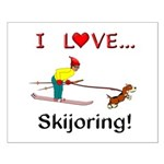 I Love Skijoring Small Poster