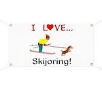 I Love Skijoring Banner