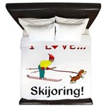 I Love Skijoring King Duvet