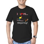 I Love Skijoring Men's Fitted T-Shirt (dark)
