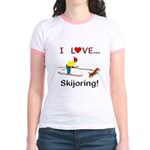 I Love Skijoring Jr. Ringer T-Shirt