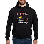 I Love Skijoring Hoodie (dark)