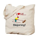 I Love Skijoring Tote Bag
