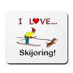 I Love Skijoring Mousepad