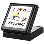 I Love Skijoring Keepsake Box