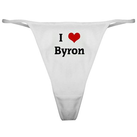 I Love Byron Classic Thong