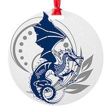 Blue Tattoo Dragon Ornament