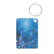 Snowfall Aluminum Photo Keychain