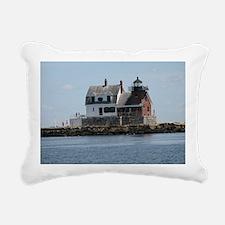 Rockland Light Lighthous Rectangular Canvas Pillow