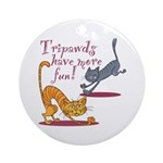 Tripawds Three Legged Cat Ornament (Round)