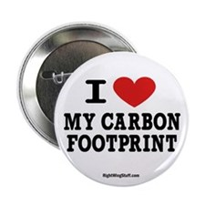 """I Love My Carbon Footprint 2.25"""" Button (10 pack)"""