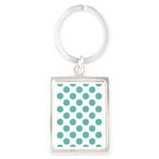 Big Dots D60x84 W Teal Portrait Keychain