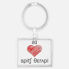 I heart Speech Therapy  - 2 ton Landscape Keychain