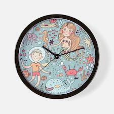 Whimsical Sea Life Wall Clock