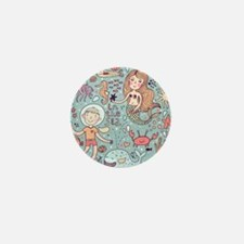 Whimsical Sea Life Mini Button