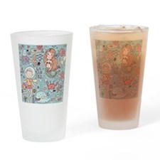 Whimsical Sea Life Drinking Glass