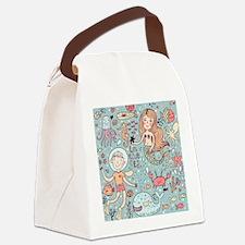 Whimsical Sea Life Canvas Lunch Bag