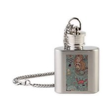 Whimsical Sea Life Flask Necklace