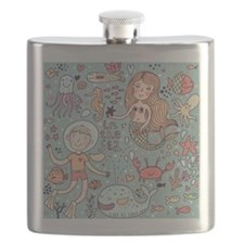 Whimsical Sea Life Flask