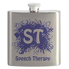 Speech Splash - fuschia Flask