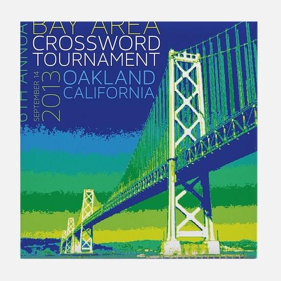 2013 Bay Area Crossword Tournament Tile Coaster