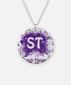 Speech Splash - purple Necklace