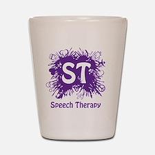 Speech Splash - purple Shot Glass