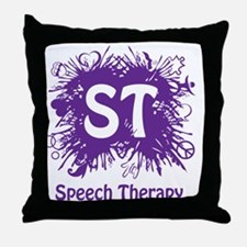 Speech Splash - purple Throw Pillow
