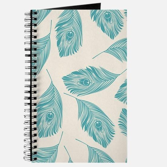 Elegant Peacock Feathers Journal
