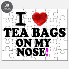 I LOVE TEA BAGS ON MY NOSE! Puzzle