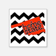 "Oklahoma HOME State Orange  Square Sticker 3"" x 3"""