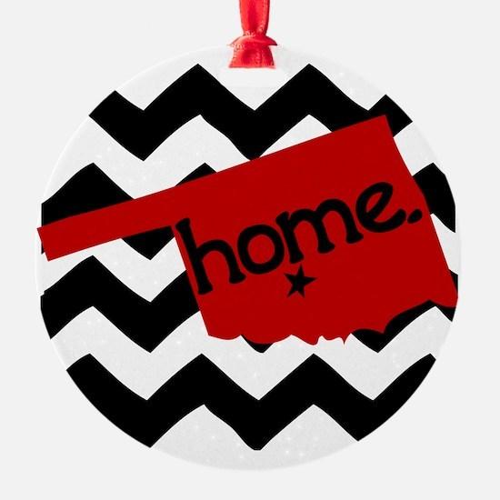 Oklahoma HOME State Crimson Ornament