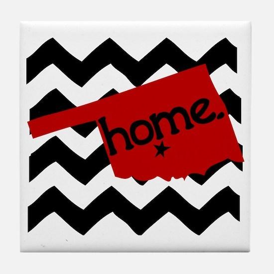Oklahoma HOME State Crimson Tile Coaster