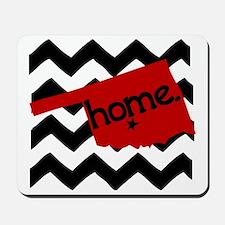 Oklahoma HOME State Crimson Mousepad