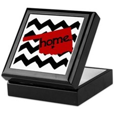 Oklahoma HOME State Crimson Keepsake Box