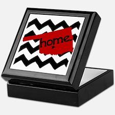 Oklahoma HOME State Crimson Keepsake Box