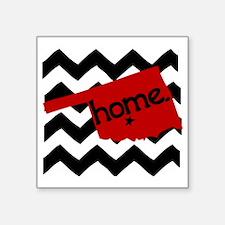"""Oklahoma HOME State Crimson Square Sticker 3"""" x 3"""""""