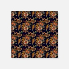 """Blue and Red Paisley Patter Square Sticker 3"""" x 3"""""""