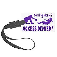 purple Access Denied, retro Luggage Tag