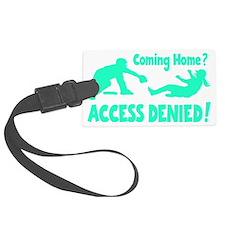 blue2 Access Denied, retro on bl Luggage Tag