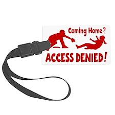 red Access Denied, retro Luggage Tag