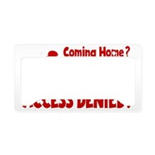red Access Denied, retro License Plate Holder