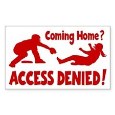 red Access Denied, retro Decal